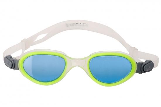 Очки для плавания FLUYD ARIA Прозрачный силикон / зеленая рамка / синие линзы