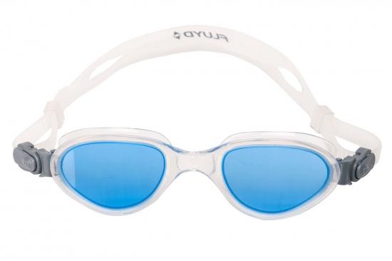 Очки для плавания FLUYD ARIA Прозрачный силикон/прозрачная рамка/синие линзы