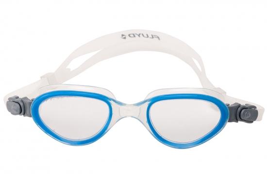 Очки для плавания FLUYD ARIA Прозрачный силикон / синяя рамка / прозрачные линзы
