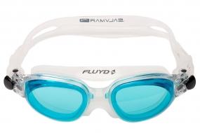 Очки для плавания FLUYD LINEA Прозрачный силикон, линзы аквамарин