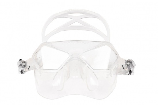 Маска Salvimar INCREDIBILE прозрачный силикон/прозрачные линзы