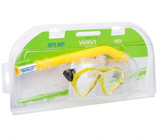 Набор детский Wavi маска FRANCY и трубка TORNADO цвет желтый