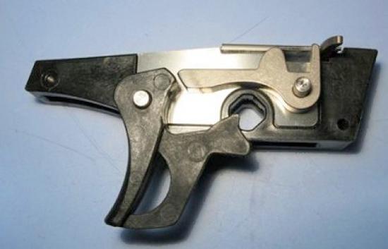 Триггерный механизм на ружье Salvimar Voodoo в сборе.