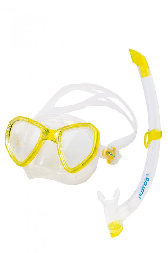Набор Salvimar маска MORPHEUS и трубка TIME SPLASH цвет желтый