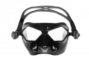 Маска Salvimar INCREDIBILE, черный силикон/прозрачные линзы