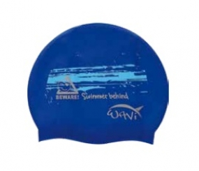 Шапочка для плавания силиконовая WAVI
